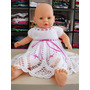 Vestido Infantil Patice - Crochê - Branco - 6 A 9 Meses