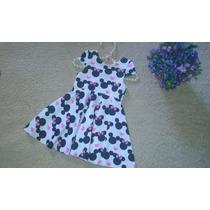 Vestido Infantil Minnie Disney Rodado Bebê Baby Festa Menina
