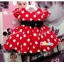 Vestido Infantil Minnie Baby Tam P-m -g E Faixa De Cabelo