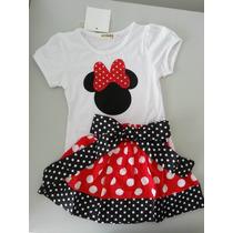 Conjunto Infantil Da Minnie - Produto Importado