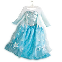 Vestido Fantasia Elsa Frozen Disney Store Oficial Tam 10anos