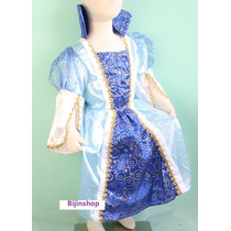 Fantasia Princesa Azul Cinderela 6 E 8- Pronta Entrega