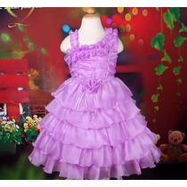 Vestido Infantil Festa/princesa/daminha Com Babado