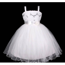 Vestido Infantil Festa/ Princesa/dama/florista Flores Paetes