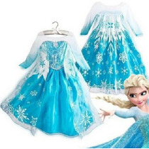 Fantasia Luxo Frozen Disney Elsa - Tamanhos 2-12 Anos