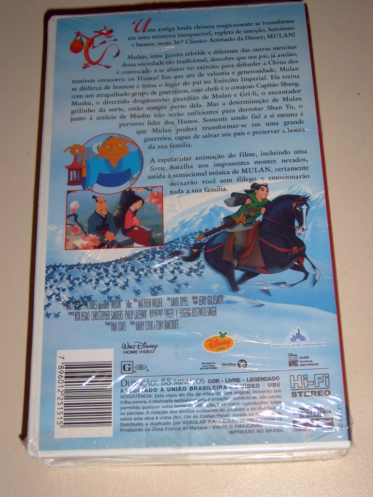 Related Keywords & Suggestions for Mulan 2000 Vhs