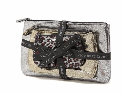 Bolsa De Mão Victoria Secrets Dourada : Victorias secret kit bolsa de mao necessaires r