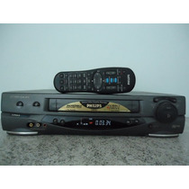 Video Cassete Philips - Stereo Com Controle E Cabo Rca