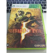 Jogo Xbox 360 Resident Evil 5 Original Mídia Física Barato!!