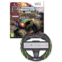 Monster Jam Path Of Destruction + Volante - Nintendo Wii