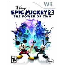 Epic Mickey 2 - The Power Of Two Wii Original Lacrado