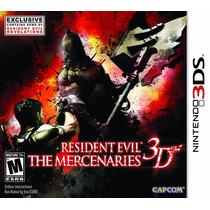 Resident Evil The Mercenaries 3d Nintendo 3ds Novo Original