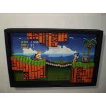 Sonic 2 Hd Quadro Diorama 3d Sonic 2 Hd Jogo Sega Ps3 Ps4