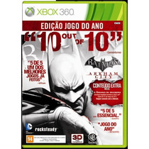 Xbox 360 - Batman Arkham City Ed Jogo Do Ano Míd Fís Semi