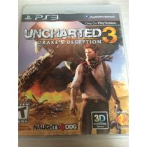 Uncharted 3 Drakes Deception Para Ps3 Mídia Física Novo