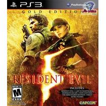 Jogo Ps3 - Resident Evil 5 Gold Edition - Usado