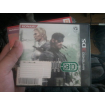 Jogo Metal Gear Solid 3d Edição Japonesa (importado Japones)