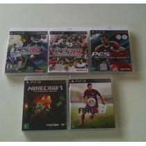 Jogos Playstation 3 Usados - Minecraft Fifa 15 Pes 15