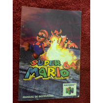 Manual Do Cartucho (jogo) Super Mario 64 Do Console Nintendo