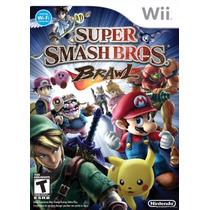 Super Smash Bros Brawl Wii / Wii U - Lacrado - Frete Grátis