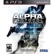 Alpha Protocol: The Espionage Ps3 Frete R$6,50 Brasil