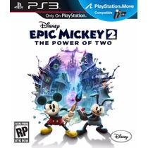 Jogo Disney Epic Mickey 2 The Power Of Two Ps3 Frete Grátis