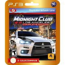 Midnight Club La Complete Edition (códigos Ps3)