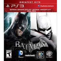 Pacote Duplo De Batman Arkham Asylum E Arkham City Ps3