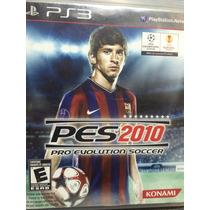Pes 2010 E 2012 - Playstation 3- Ps3 - Usado - Ótimo Estado
