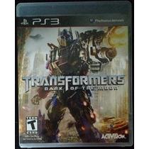 Transformers Dark Of The Moon - Ps3 Original Mídia Física