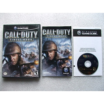 Game Cube: Call Of Duty Finest Hour Americano Completo! Raro