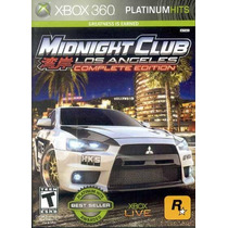 Midnight Club Los Angeles Complete Edition Jogo Xbox 360
