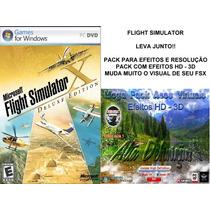 Flight Simulator X Deluxe + Pack De Alta Definição Hd 3d
