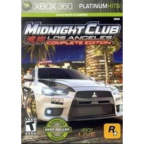 Jogo Semi Novo Midnight Club Los Angeles Edition Xbox 360