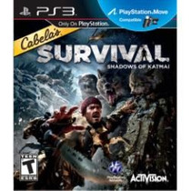 Jogo Cabela`s Survival Shadows Of Katmai Ps3 Compativel Move