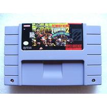 Super Nes: Donkey Kong Country 2 Original Americano!! Raro!!