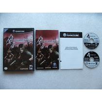 Game Cube: Resident Evil 4 Americano Completo!! Raríssimo!!