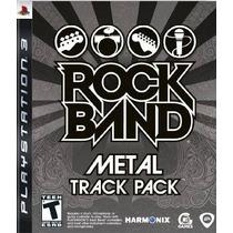 Jogo Lacrado Rock Band Metal Track Pack Para Playstation 3