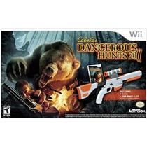 Wii Cabelas Dangerous Hunts 2011 Com Gun- Novo - Original