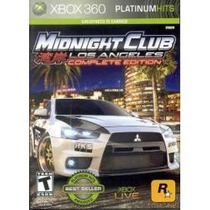 Jogo Midnight Club Los Angeles Complete Edition Pra Xbox 360