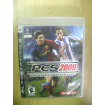 Pro Evolution Soccer 2009 - Ps3 Lacrado - Novo - Original
