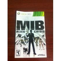 Mib Alien Crisis - Instruction Booklet Original