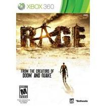 Jogo Lacrado Original Ntsc Com Nota Fiscal Rage Do Xbox 360