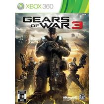 Gears Of War 3 - Xbox- Região Livre - Mega Promoção