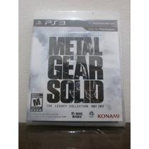 Metal Gear Solid Legacy Collection Ps3 Lacrado Mídia Fisica