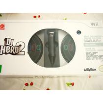 Nintendo Wii : Dj Hero 2 Lacrado C/ 2 Pickups Microfone E Jo