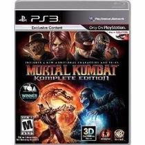 Mortal Kombat 9 Mídia Física Ps3 Original Lacrado Jogo