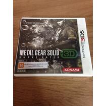 Metal Gear Solid Snake Eater 3d Para Nintendo 3ds - Lacrado