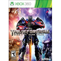 Jogo Novo Transformers Rise Of The Dark Spark Para Xbox 360