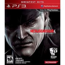Metal Gear Solid 4 Guns Of The Patriots Ps3 Novo Lacrado